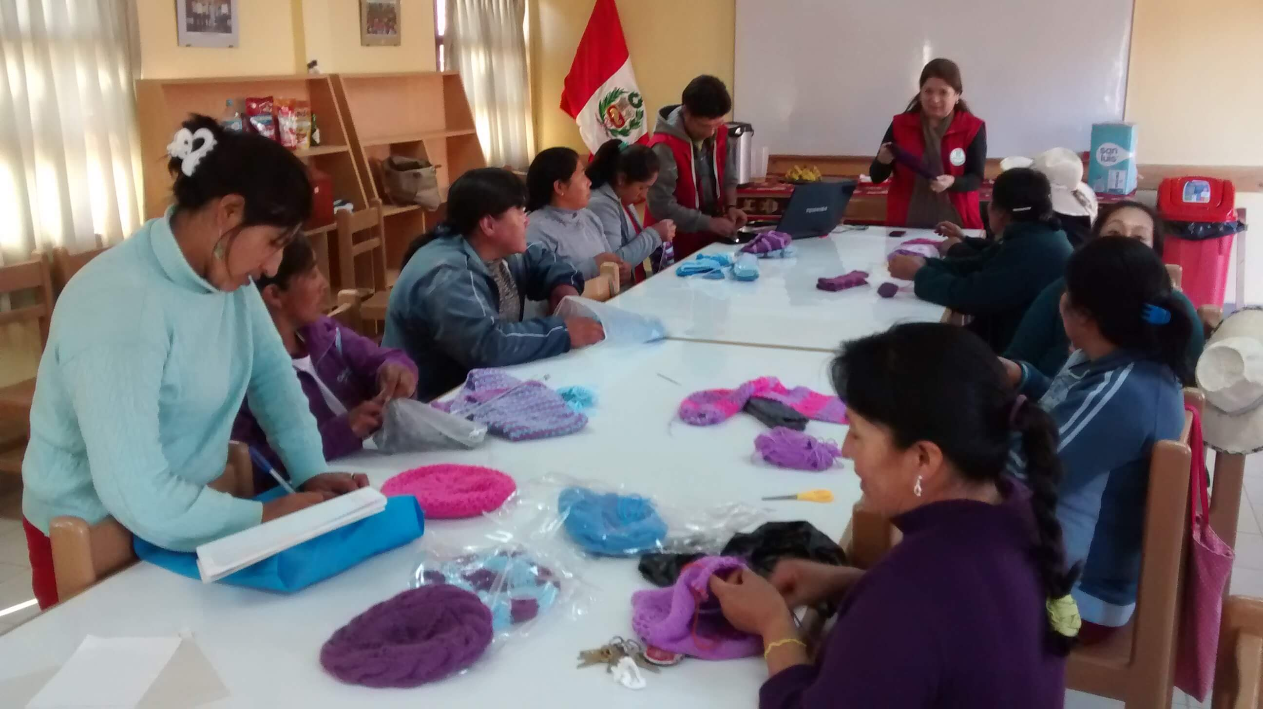 Pan Peru's weaving workshop